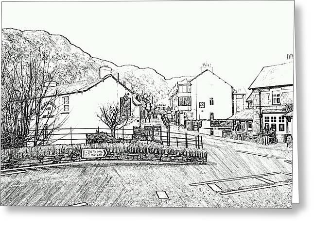 Coniston High Street Greeting Card