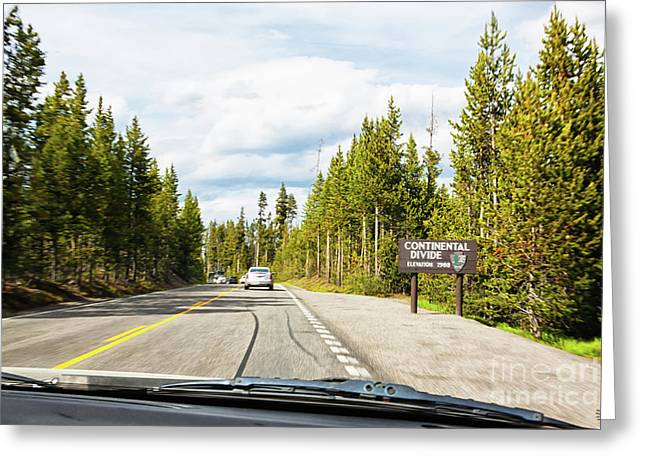 Greeting Card featuring the photograph Continental Divide In Yellowstone National Park by Tatiana Travelways