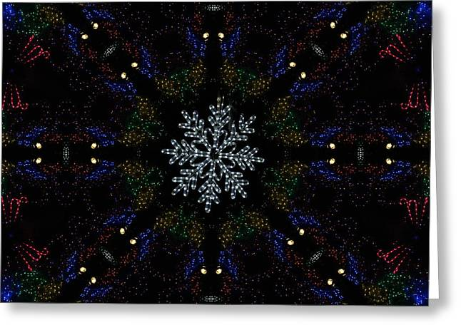 Continuous Christmas Lights Greeting Card