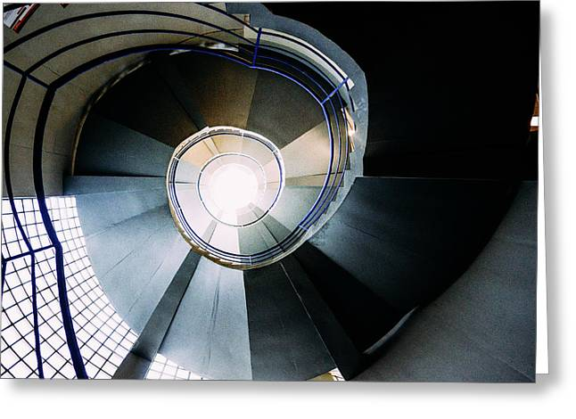 Convoluted Staircase  Greeting Card