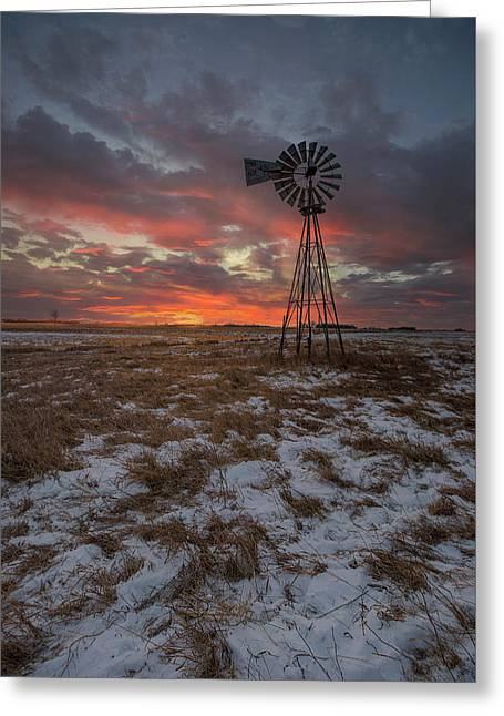 Greeting Card featuring the photograph Cool Breeze  by Aaron J Groen