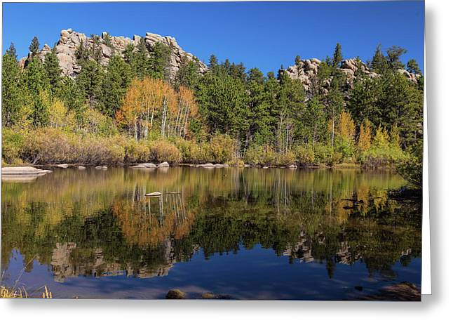 Greeting Card featuring the photograph Cool Calm Rocky Mountains Autumn Reflections by James BO Insogna