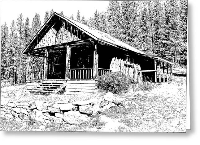 Coolidge Ghost Town Montana Greeting Card