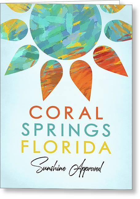 Coral Springs Florida Sunshine Greeting Card