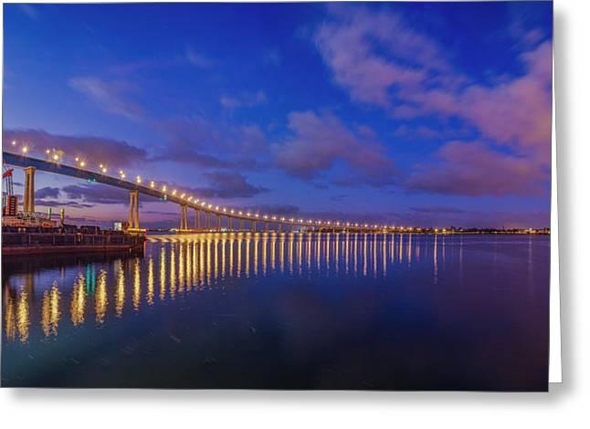Coronado Bridge Sunrise - Panorama Greeting Card