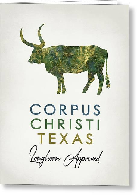 Corpus Christi Texas Dark Marble Greeting Card