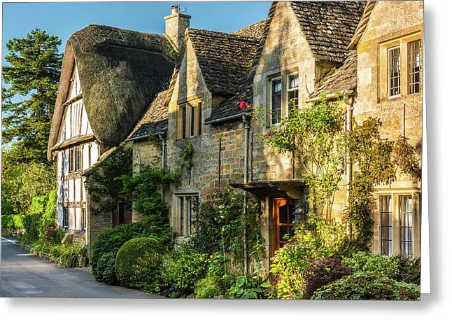Cotswold Cottages, Stanton, Gloucestershire Greeting Card by David Ross