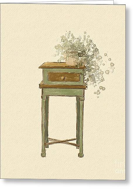 Cottage Style With Ivy Greeting Card