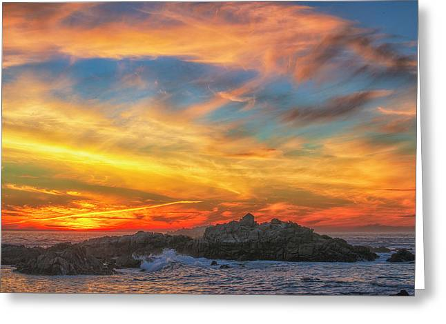 Couds At Sunset Greeting Card by Fernando Margolles