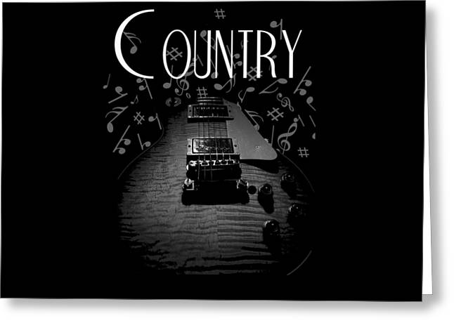 Country Music Guitar Music Greeting Card