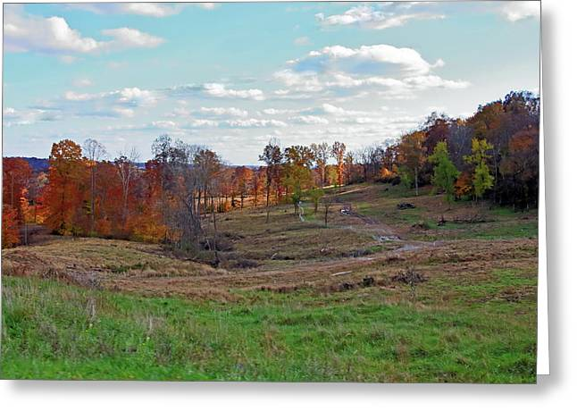 Greeting Card featuring the photograph Countryside In The Fall by Angela Murdock