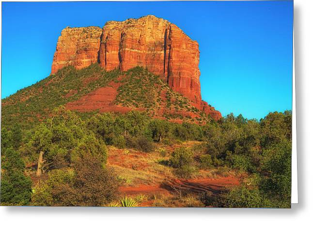 Courthouse Butte Greeting Card by Fernando Margolles