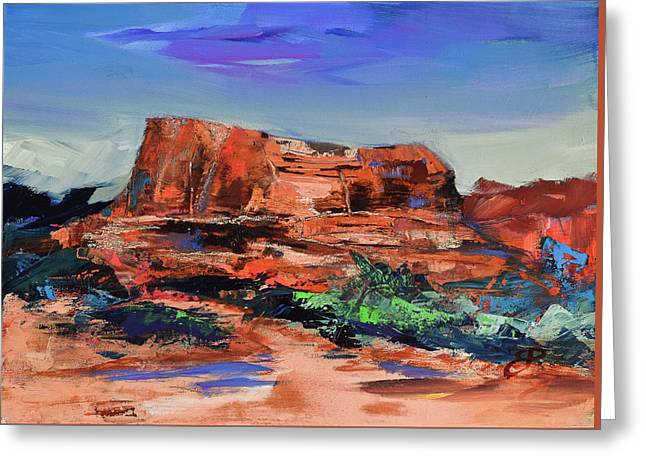 Courthouse Butte Rock - Sedona Greeting Card
