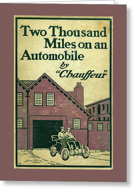 Cover Design For Two Thousand Miles On An Automobile Greeting Card