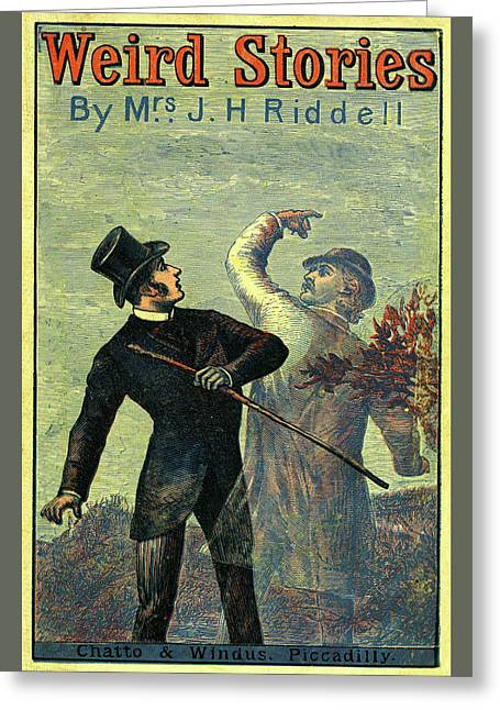 Victorian Yellowback Cover For Weird Stories Greeting Card