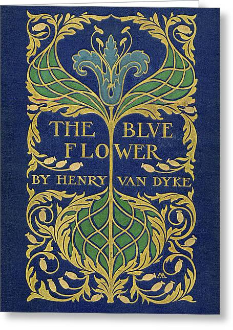 Cover Design For The Blue Flower Greeting Card