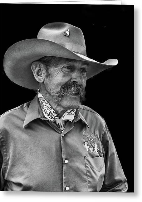 Greeting Card featuring the photograph Cowboy by Jim Mathis
