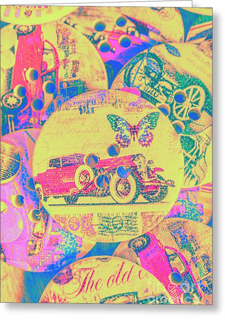 Crafty Car Commercial Greeting Card