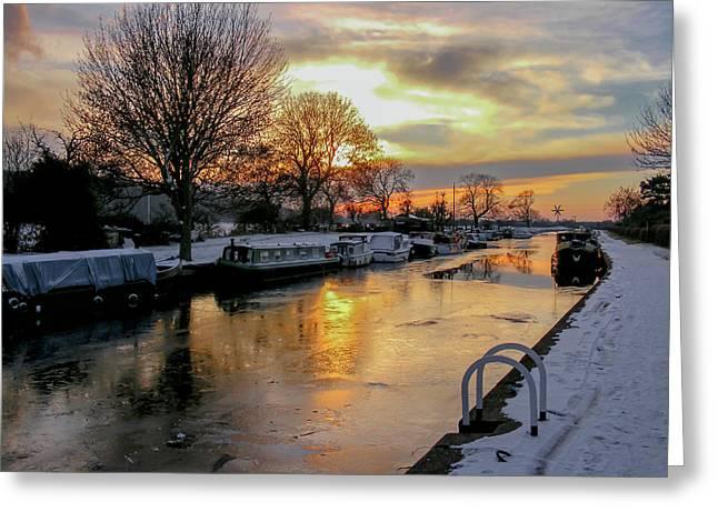 Cranfleet Canal Boats Greeting Card