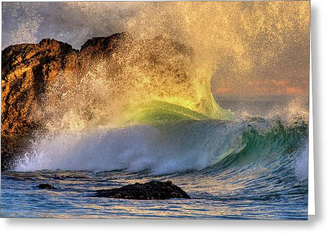 Crashing Wave Leo Carrillo Beach Greeting Card
