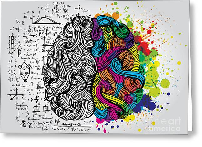 Creative Concept Of The Human Brain Greeting Card