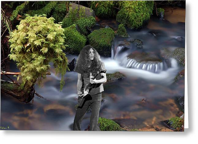 Greeting Card featuring the photograph Creek Music #1 by Ben Upham