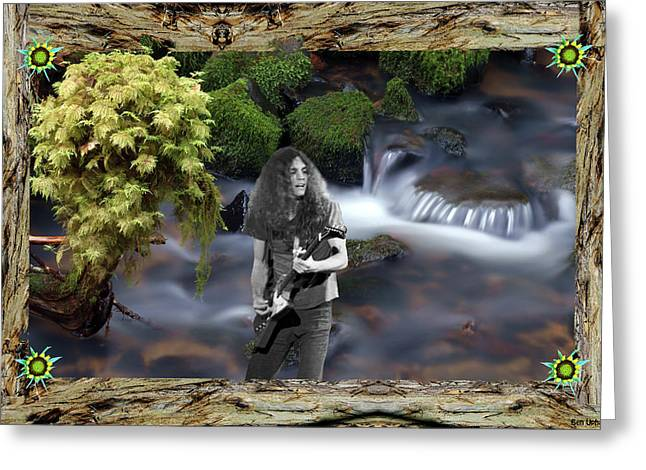 Greeting Card featuring the photograph Creek Music #1 With Redwood Framing by Ben Upham