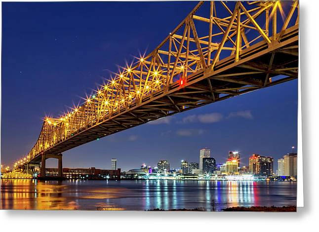 The Crescent City Bridge, New Orleans  Greeting Card