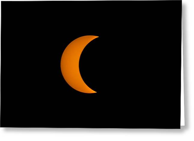 Crescent Sun Greeting Card by Christine Buckley
