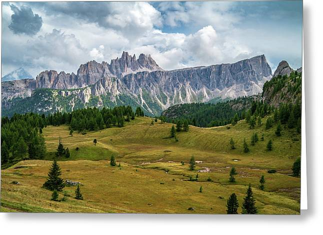 Greeting Card featuring the photograph Croda Da Lago by James Billings