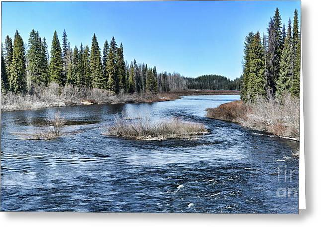 Crooked River Greeting Card