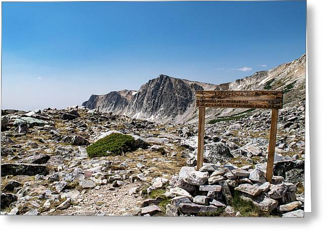 Crossroads At Medicine Bow Peak Greeting Card
