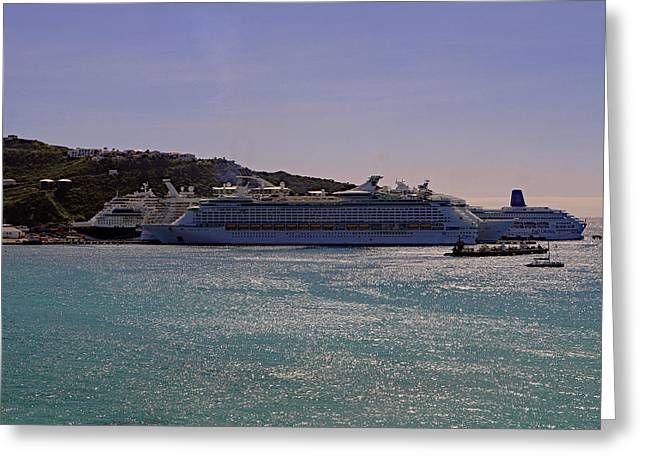 Greeting Card featuring the photograph Cruise Ships by Tony Murtagh
