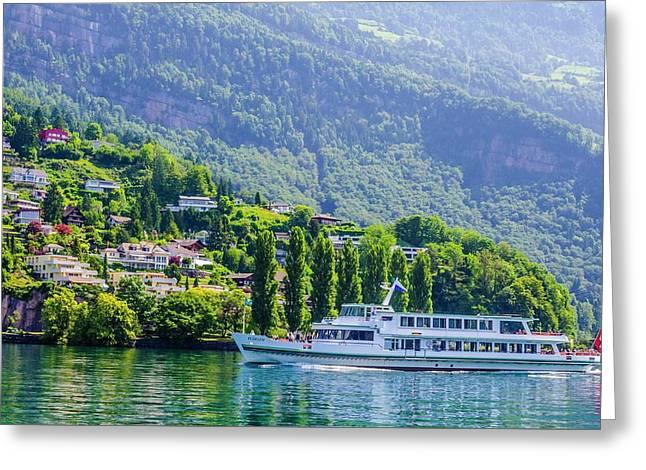 Cruising Lake Lucerne Greeting Card
