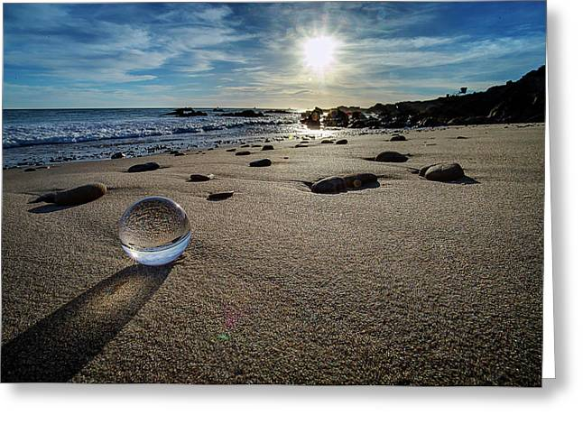 Crystal Ball Sunset Greeting Card