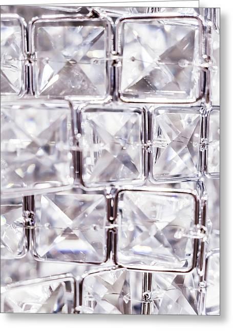 Crystal Bling V Greeting Card