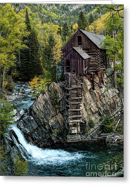 Greeting Card featuring the photograph Crystal Mill by Joe Sparks