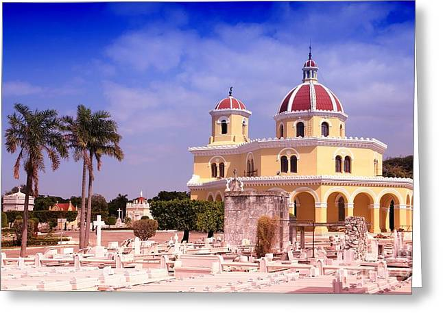 Cuba - The Main Cemetery Of Havana Greeting Card