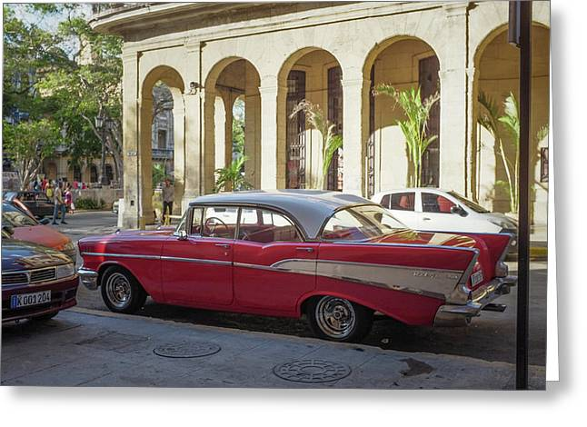 Cuban Chevy Bel Air Greeting Card