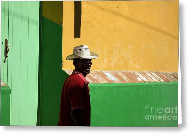 Cuban Man On The Beach Greeting Card by Danijel Ljusic