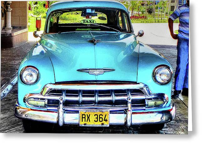 Cuban Taxi			 Greeting Card