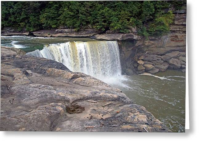 Greeting Card featuring the photograph Cumberland Falls In The Evening by Mike Murdock