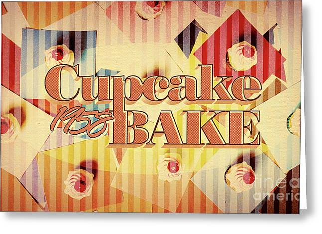 Cupcake Bake 1958 Greeting Card