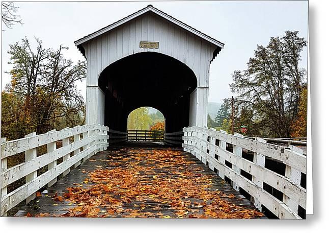 Curin Covered Bridge 1 Greeting Card