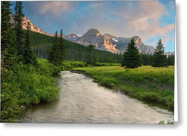 Cut Bank Creek At Sunset Greeting Card