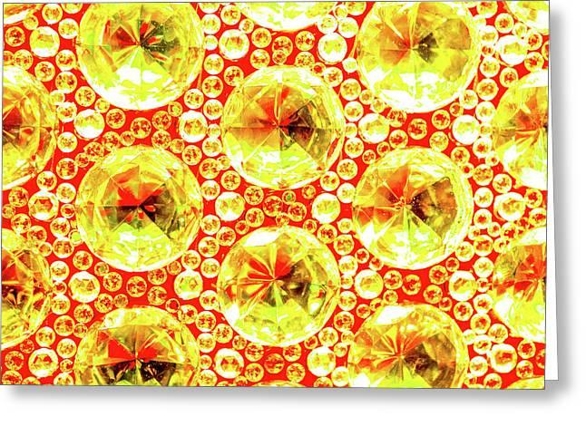 Cut Glass Beads 3 Greeting Card
