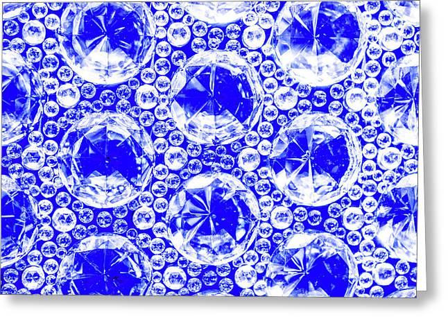 Cut Glass Beads 1 Greeting Card