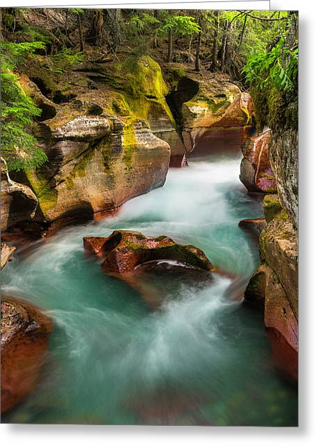 Cut Through The Heart Greeting Card by T-S Fine Art Landscape Photography