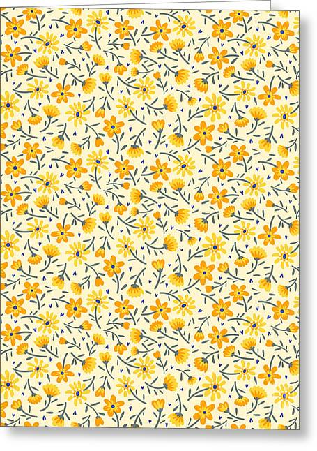 Cute Pattern In Small Flower. Small Greeting Card