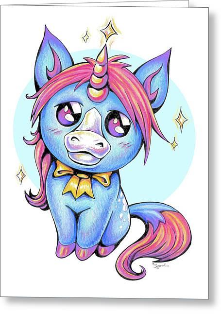 Cute Unicorn I Greeting Card